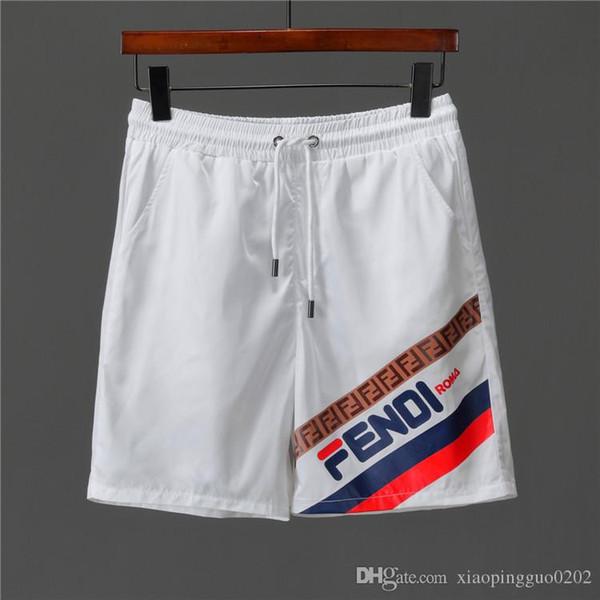 Calças de praia dos homens novos calções de praia com calções tubarão camuflagem moda calças letras na altura do joelho solto pant m-xxxl
