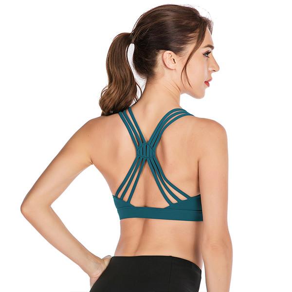 Les femmes Push Up Soutien-gorge sans couture Sport Fitness Activewear Femme Sport Tops Yoga Bra Crop Gym Brassiere