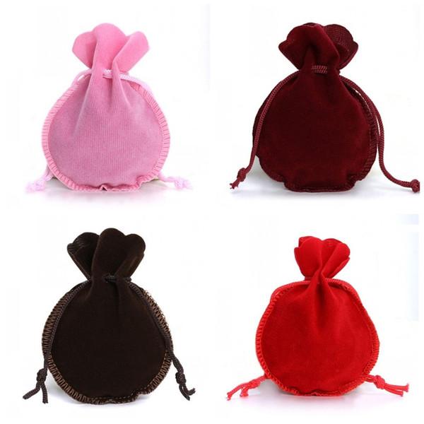 Маленькие конфеты сумки Сплошной цвет Тыква Shaped ювелирные изделия мешок Бархатный Wrap Bundle Карман на Рождество Свадьба Поставка 0 45dy E1