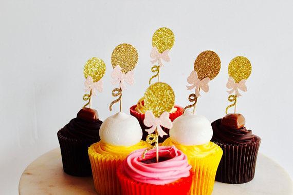 glitter Engagement Ring diamond I DO Cupcake Topper. Cupcake Decoration. Secret Garden Party Decoration