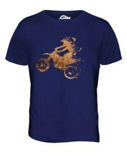 MOTORCROSS TRIANGULAR SPLATTER MENS T-SHIRT TEE TOP GIFTEXTREME SPORTS GEOMETRIC