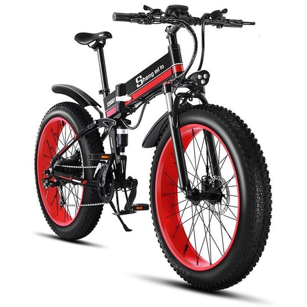 best selling 26 Inch Folding Electric Scooter Adults 2 Wheel Electric Bicycles Mountain Bike 48V 1000W Motorcycle Off Road Electric Bike Seat