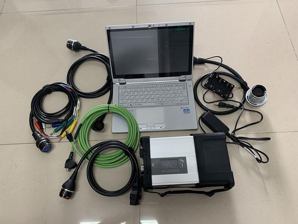 c5 estrella mb con el ordenador portátil