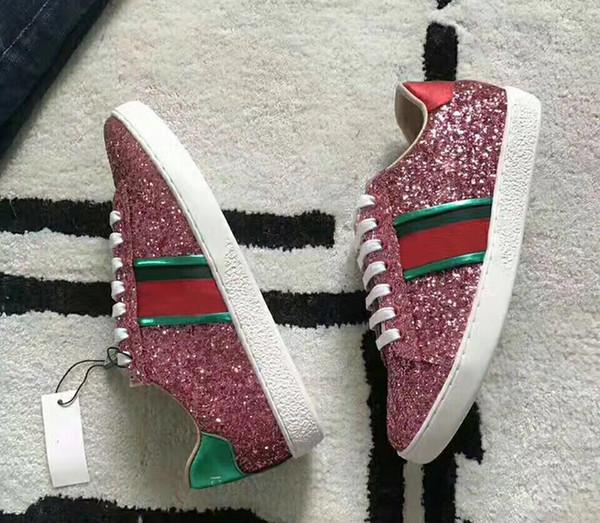 Новые дизайнерские кроссовки мужские женские плоские повседневная обувь мода белый натуральная кожа роскошные цветочные вышитые плоские спортивные туфли 35-44 17 цвет