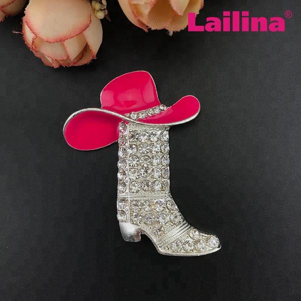 bonne vente de chaussures Achat vente discount Acheter / Mixte Rose / Vert / Émail Chapeau De Cowboy Occidental Botte En  Strass Chaussure Personnalisée Broche Broche De $80.31 Du Lailina_jewelry |  ...