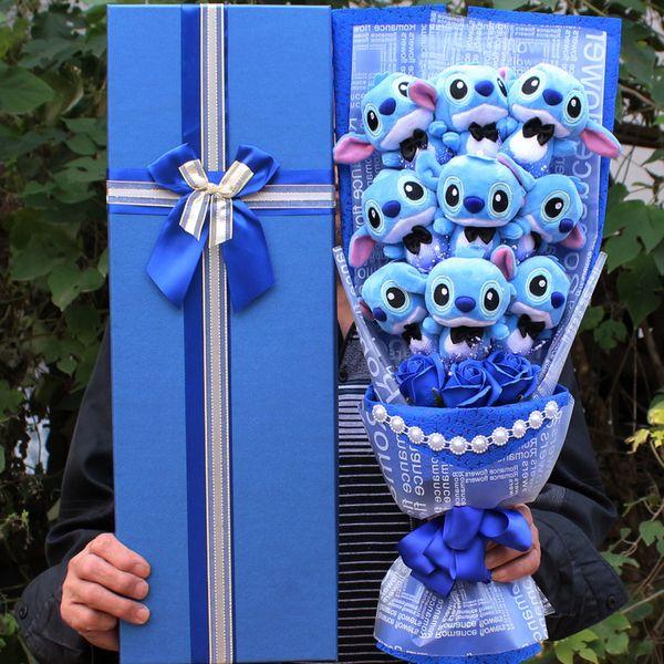 piquer bouquet anime jouets en peluche jouets pour les filles fleurs douces festivals saint valentin cadeaux pour petite amie
