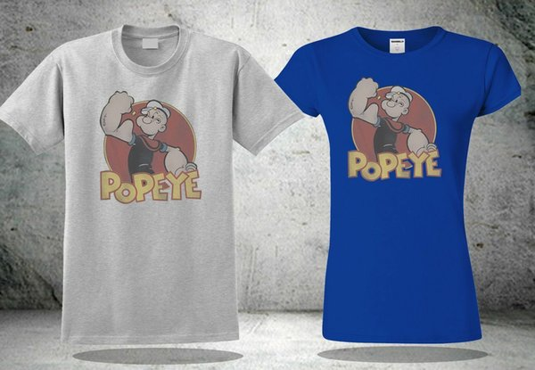 NEW POPEYE CARTOON SAILOR FUNNY FOR MEN'S&WOMEN'S T-SHIRT USA SIZE S-XXXL ZM1Funny free shipping Unisex Casual Tshirt top