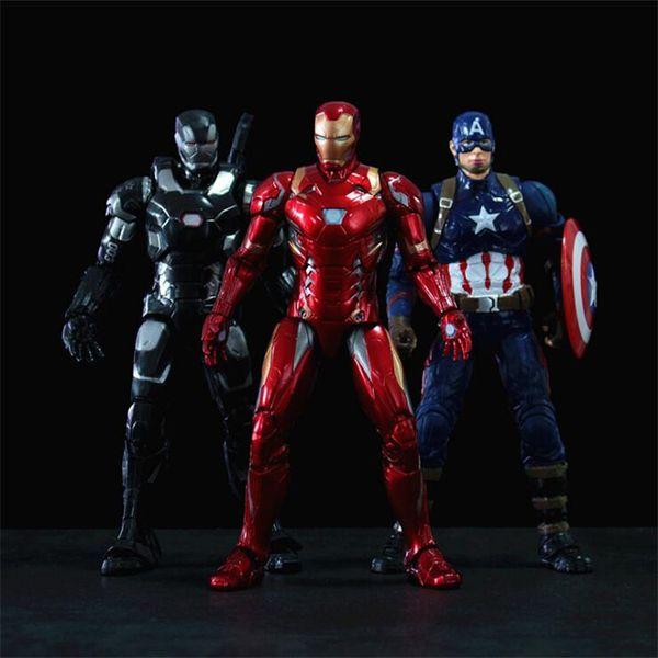 marvel avengers action figures toys 15 designs PVC iron man spiderman thanos hulk anime figure avengers toys with box Kids toys DHL MSS237