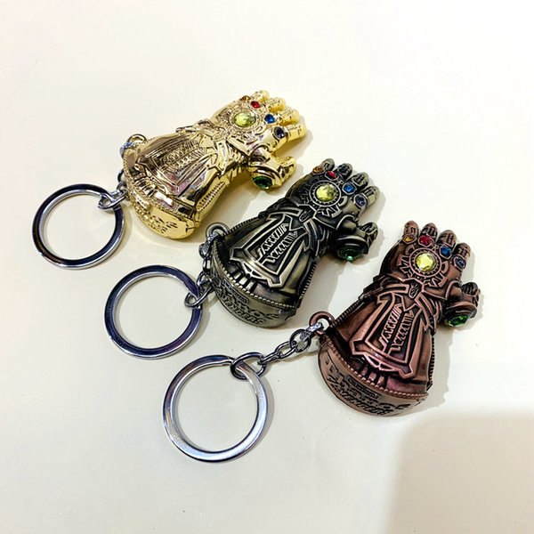 Marvel Avengers Endgame Thanos Infinity Glove Gauntlet Keychain For Men Gift Metal Chaveiro Car Key chain Accessories newv002
