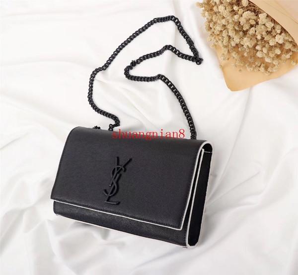 Monedero largo de la moda de las mujeres del hombro diagonal del color blanco y negro del hardware