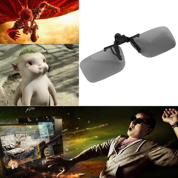 2017 Cheap Clip su occhiali da vista polarizzati 3D passivi circolari polarizzati 3D Passive Watching Glasses Clip per TV Cinema Film