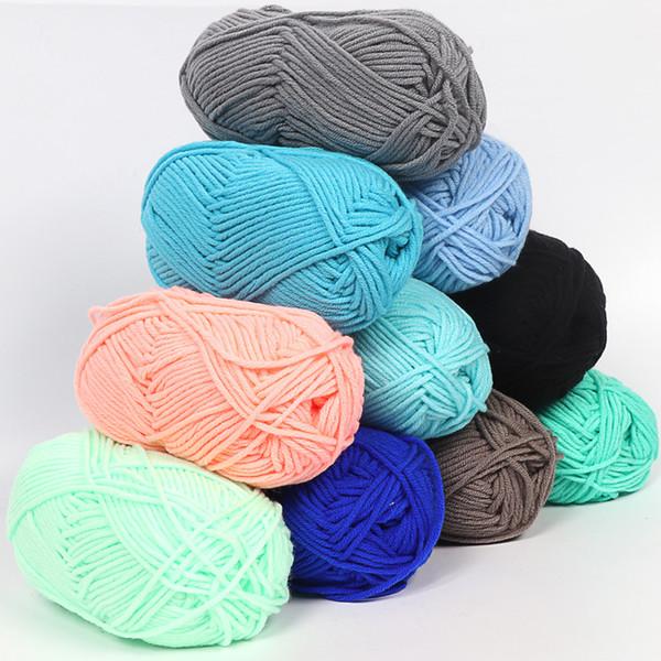 top popular Crochet Yarn Milk Cotton Knitting Yarn Soft Warm Baby Yarn for Hand Knitting Supplies 2021