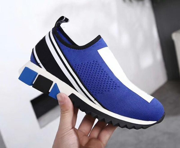 2019 Designer shoes Sorrento Sneaker Knit Casual trainers Men Fabric Stretch Jersey Slip-on Sneakers Rubber Breathable Casual ShoesT05