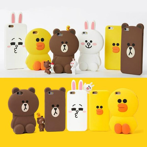 1p Cute 3D Cartoon Phone Case for iPhone 5 5s SE 6 6s 7 8 Plus X XS Soft Silicone Rubber Shockproof Back Cover Fundas Coque