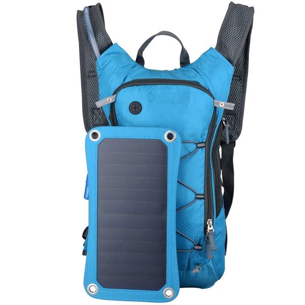 Yürüyüş Sırt Çantası Çift Omuz Güneş Çanta Ile Akıllı Telefonlar Tabletler Için Gps Çıkarılabilir Güneş Paneli Çok Fonksiyonlu Bluetooth Bir