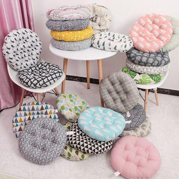 Rodada 38x38 Almofada / 43x43 / 48x48cm cadeira de escritório almofada do sofá tatami decoração circular cadeira almofadas de assento atacado
