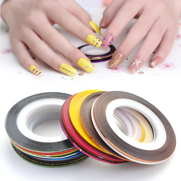 Art Stickers Decals 30pcs Rolls Striping Tape Line Nail Art Sticker Tools Foil Tips Tape Line DIY Design Decorations for Nail