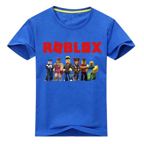 Children Short Sleeve T-shirt Boy 3d Roblox Games Tee Tops Clothes Kids White Casual T Shirt Costume Girls Tshirt Clothing Dx106 J190427