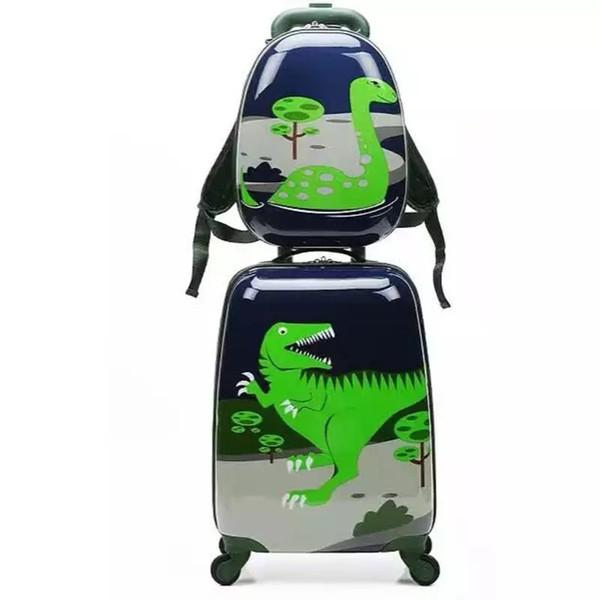 Cartoon Niedlichen Tier Kinder Rollgepäck Gesetzt Spinner Kinder Koffer Rad Trolley Reisetasche Student Carry On Trunk