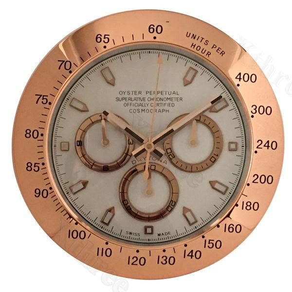 Металлические часы настенные часы Тихий Большой Роскошные современные настенные часы Главная Гостиная Ретро часы 34см