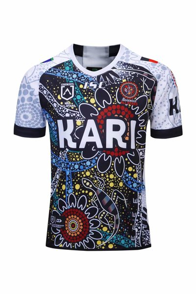 Родной камуфляж Ковбой INDIGENOUS Трикотажные изделия регби 2018 2019 NRL Национальная лига регби nrl Джерси COWBOY местная рубашка s-3XL