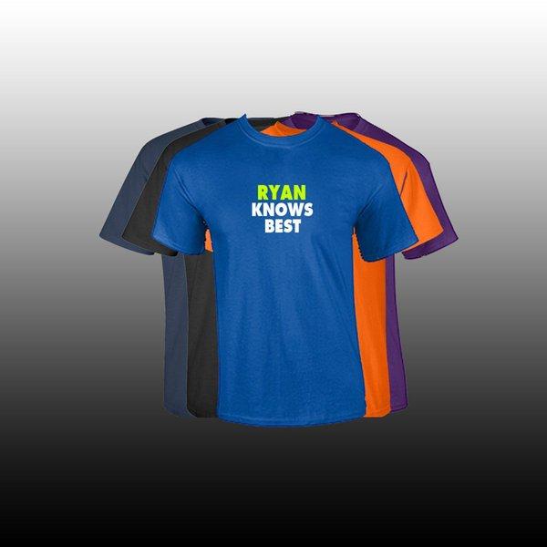RYAN Adınız erkek T-shirt Özel Ad