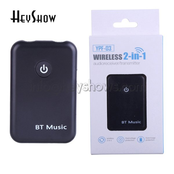New Lossless Transmission 2in1 Bluetooth 4 2V Transmitter Receiver 3 5mm  Stereo Wireless Music Audio Cable Dongle Adapter For TV DVD MpRadio Av