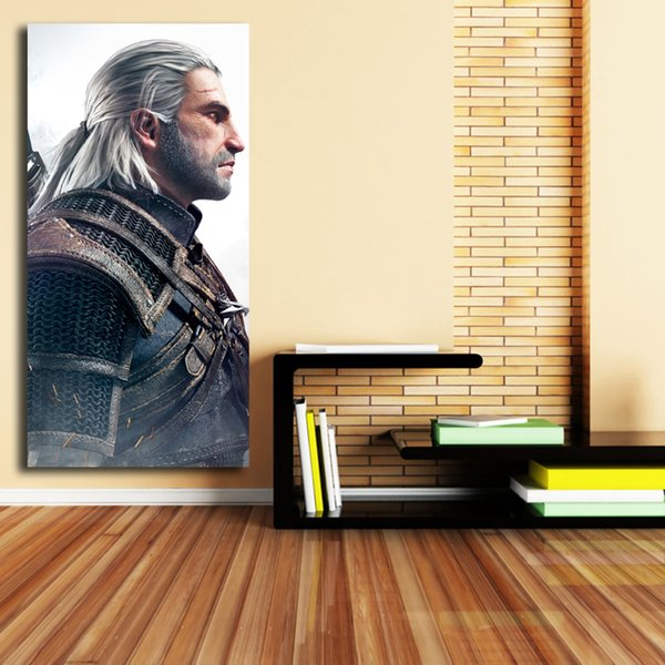 The Witcher 3 Wild Man Posters Canvas Painting Oil Framed Wall Art Print Pictures For Living Room Home Decoracion