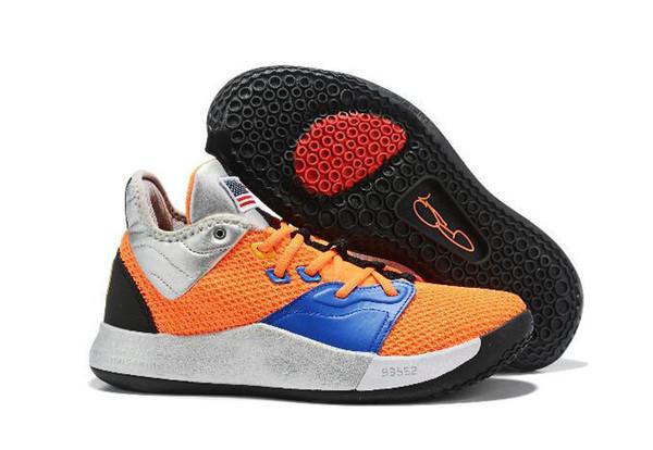 Original 2019 Paul George Pg 3 3s Chaussures De Basketball Palmdale Iii P.george Chaussure Homme Pg3 Étoilé Bleu Orange Rouge Noir Baskets De Sport