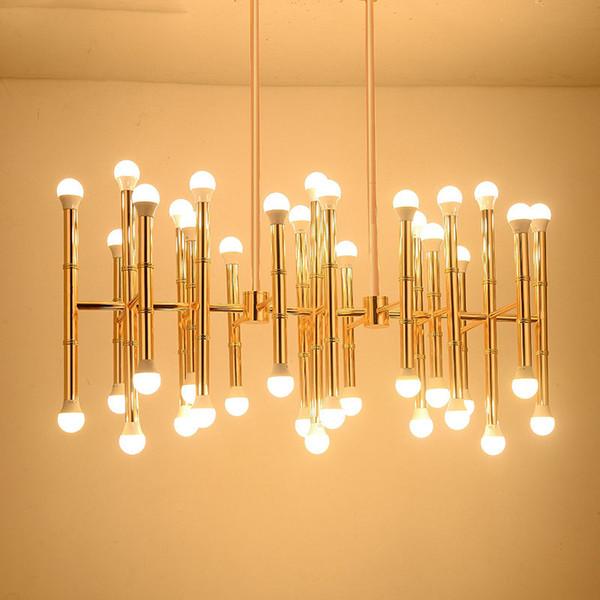 Acheter 30 42 Têtes Nordique Plafond Suspendu Lustre Lumière Lampe Or Designer Chambre Moderne Simple Suspension Lumière Lampe Led éclairage à La