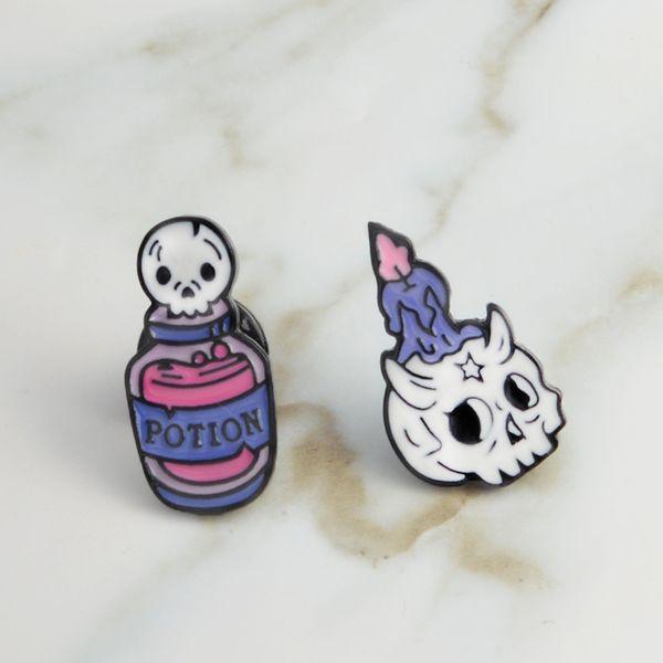 Acquista candela teschio di cartone animato pozione della morte