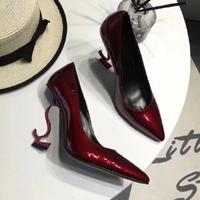 Red Heel Dark Red Shiny Leather