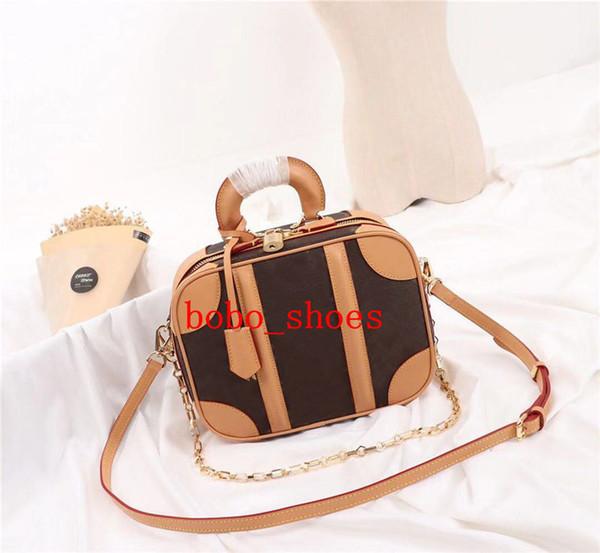 Designer bolsa de carta Flor do café preto mulheres treliça sacos mulheres carteiras Cosmetic bolsa com zíper Designer Handbags bolsas 3 tamanho