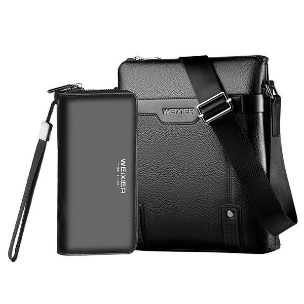 Men Vintage Shoulder Bags Crossbody Bags Retro Zipper Handbags+Wallet Men's Multi-Function Travel Handbags High Quality #R20