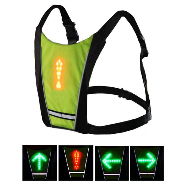 Compre Colete De Segurança Reflexiva À Prova D  Água 48 LED Sinal Noite  Corrida Colete Esportes Ao Ar Livre Correndo   Noite Caminhada   Ciclismo  ... 134aa0c49a1ce