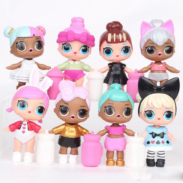 9 см LoL кукла с бутылочкой для кормления американский пвх каваи детские игрушки ан