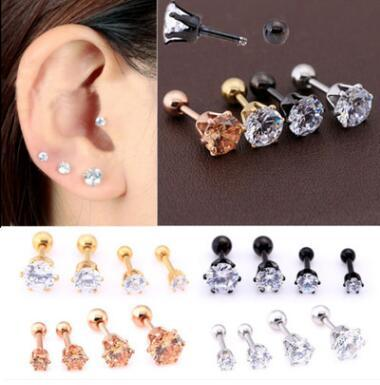 best selling high-quality hot new stainless steel six claw earrings, ear bone nails, nose nail jewelry Punk Nose Rings Stainless Steel Nose Studs 4 Color