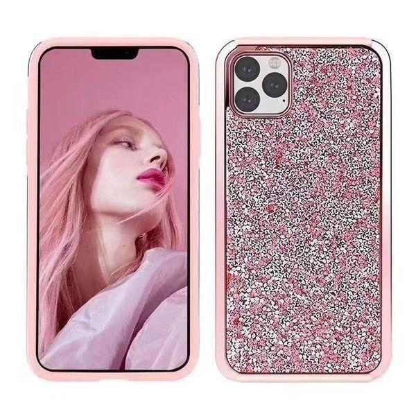 Bling Diamantrhinestone 2in1 PC + TPU Funkeln-Telefon-Kasten für iPhone 11 XR XS maximales X 8 7 Samsung S10 Anmerkung 10 Anmerkung 10 plus