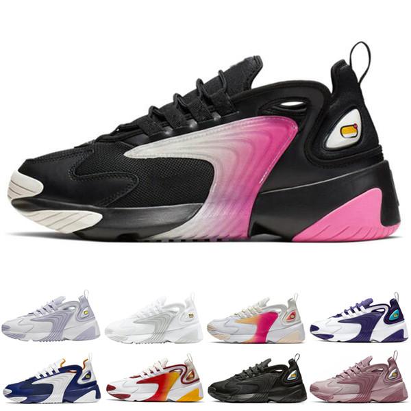 Hot sale M2k Tekno Zoom 2K Running Shoes for Men women 2k shoes Black Volt Triple Black White Mens Trainers Sports Sneakers shoes