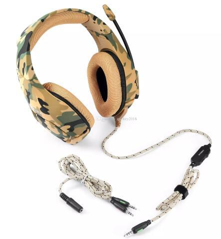 2019 ONIKUMA K1 Camouflage PS4 Headset Bass Gaming Headphones Game Earphones Casque with Mic for PC Mobile Phone New Xbox One Tablet