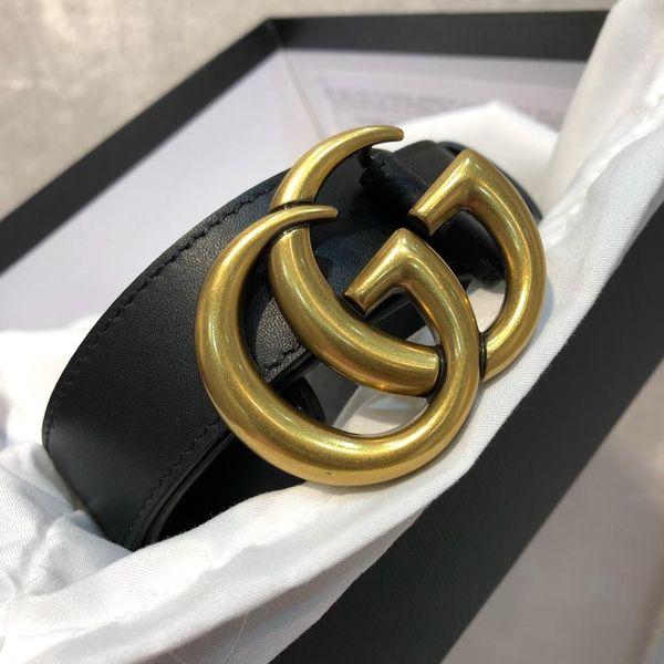 2019 designer männer gürtel mode gürtel frauen leder gürtel buchstaben gold schnalle und leder gute qualität ohne box