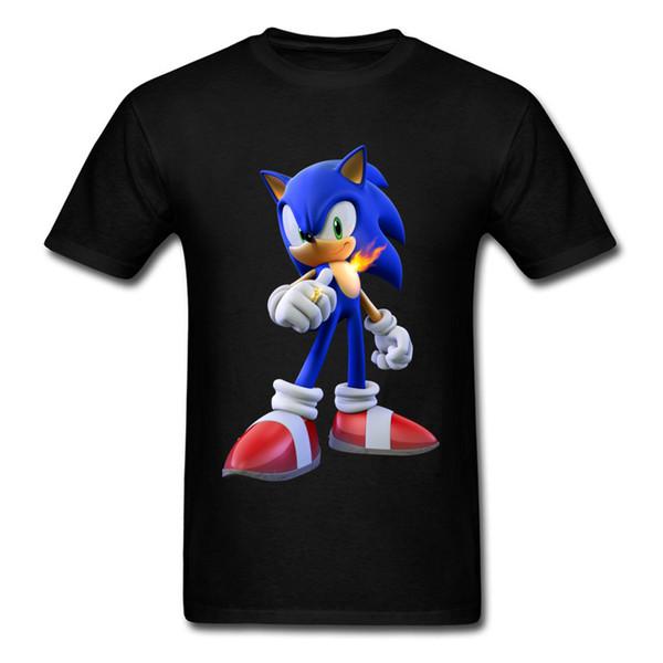 2018 Sonic Hedgehog The Secret Rings 3D camiseta para hombre Hip Hop moda Negro Tops camisetas gráfico juego camiseta para hombre Streetwear
