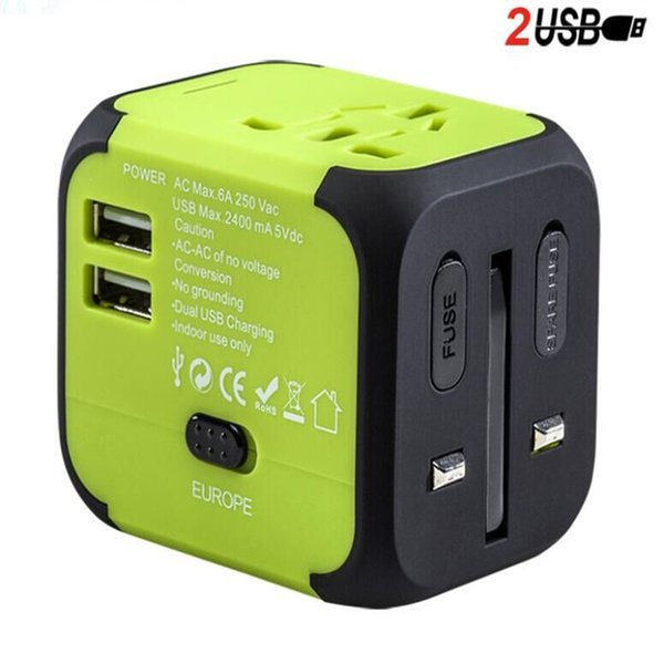 travel wall charger Adapter green