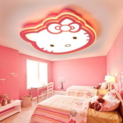 2019 LED Creative Ceiling Lamp For Children\'S Room Kitty Cat Simple Modern  Cartoon Pink Princess Bedroom Lamps From Jess135, $201.01 | DHgate.Com