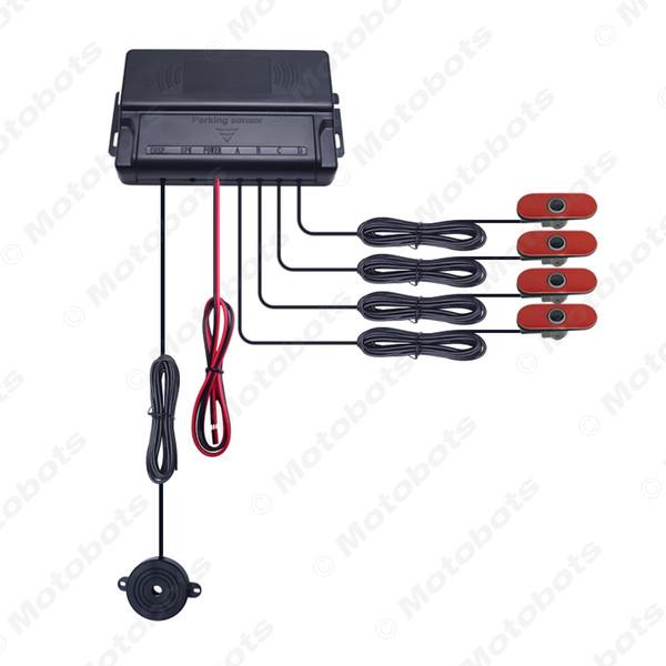 Auto Original Style 4PCS 16.5mm Sensors Car Reverse Backup Beep Alarm Radar Parking Sensor White/Black/Silver #1357