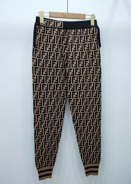 NOVA das mulheres Calças Desenhadoras Moda feminina Esportes Calças Basculador Calças de Cintura Elástica Longa Calças de Malha Pantalones