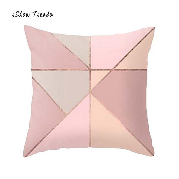 2018 New Fahsion Pillow Cover Geometric Marble Texture Throw Pillow Case Cushion Cover Sofa Home Decor Soft Square