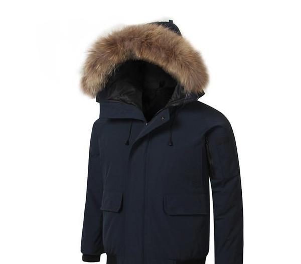 Canada d'hiver coton pour hommes Costume plus de velours Mens longue Épaississement Section de grande taille Designer chaud Coton Veste Parka