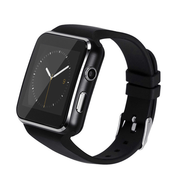 X6 Smart Watches With Camera Touch Screen Support SIM TF Card Bluetooth Smartwatch For Samsung s9 Phone goophone with Retail Box