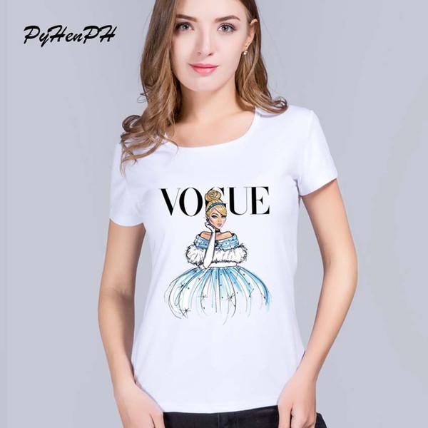 Camisetas mujer nuevo tatuaje vogue princesa blancanieves mujeres camiseta harajuku estampado de dibujos animados camiseta casual Top camiseta manga corta